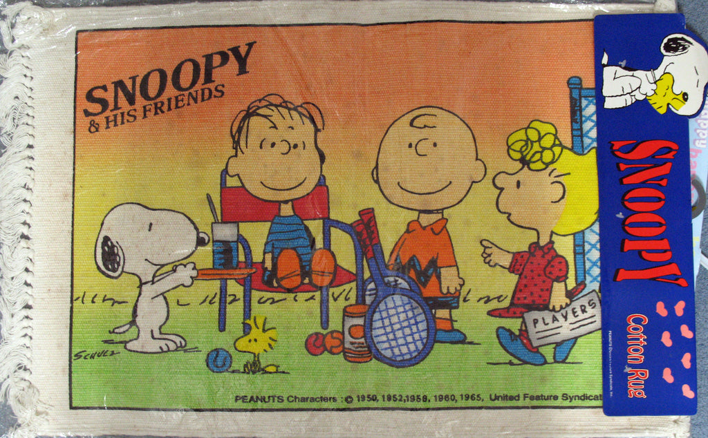 Snoopy and His Friends Cotton Rug