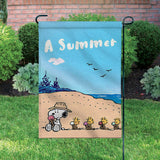 Peanuts Double-Sided Flag - Summer