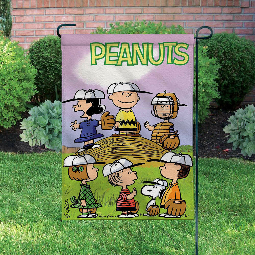 Peanuts Double-Sided Flag - Charlie Brown Baseball