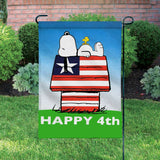 Peanuts Double-Sided Flag - Happy 4th