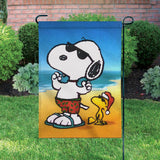 Peanuts Double-Sided Flag - Joe Cool Surfer