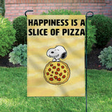 Peanuts Double-Sided Flag - Snoopy Pizza
