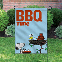 Peanuts Double-Sided Flag - BBQ Time