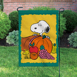 Peanuts Double-Sided Flag - Snoopy Thanksgiving Cornucopia