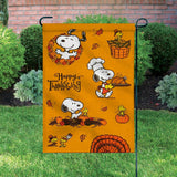 Peanuts Double-Sided Flag - Happy Thanksgiving