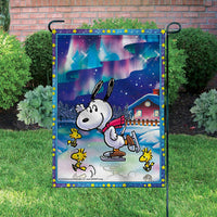 Peanuts Double-Sided Flag - Snoopy Ice Skating
