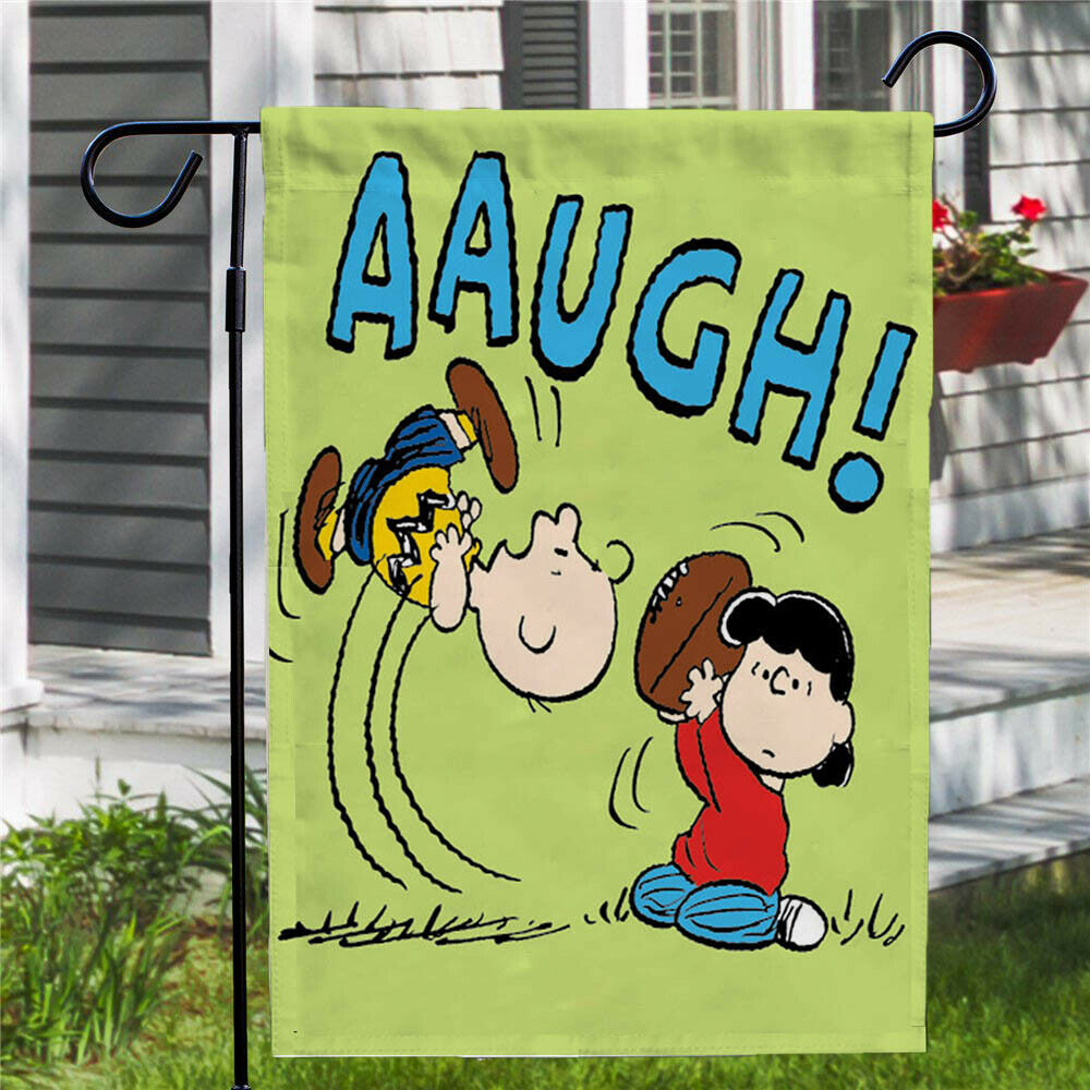 Peanuts Double-Sided Flag - Aaugh!