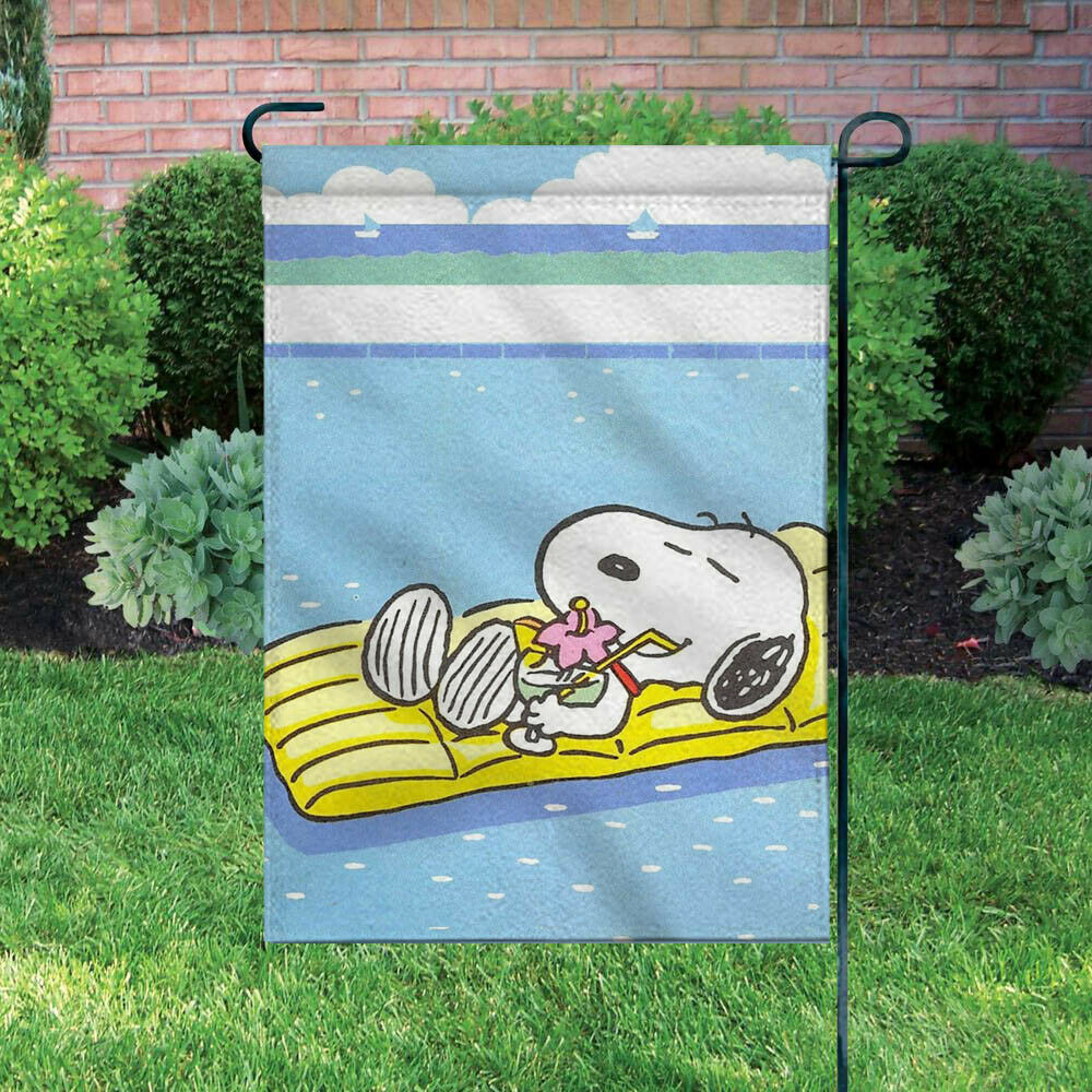 Peanuts Double-Sided Flag - Snoopy On Pool Float