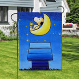 Peanuts Double-Sided Flag - Snoopy On The Moon