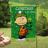 Peanuts Double-Sided Flag - Christmas Is For Sharing