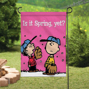 Peanuts Double-Sided Flag - Is It Spring Yet?