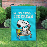 Peanuts Double-Sided Flag - Happiness Is Ice Cream