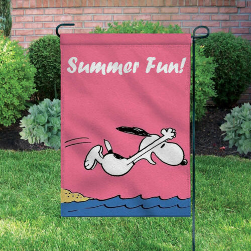 Peanuts Double-Sided Flag - Summer Fun