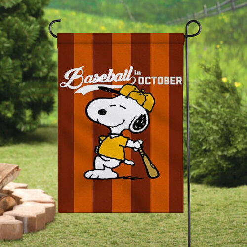 Peanuts Double-Sided Flag - Baseball In October