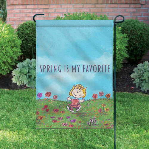 Peanuts Double-Sided Flag - Sally In Spring