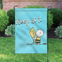 Peanuts Double-Sided Flag - Keep At It
