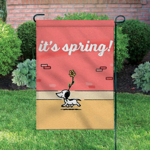 Peanuts Double-Sided Flag - It's Spring!