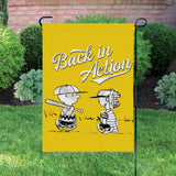 Peanuts Double-Sided Flag - Back In Action Baseball