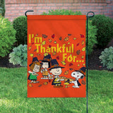 Peanuts Double-Sided Flag - Thankful For...