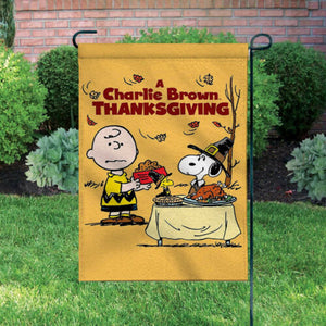Peanuts Double-Sided Flag - A Charlie Brown Thanksgiving