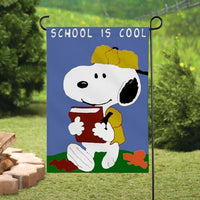 Peanuts Double-Sided Flag - School Is Cool
