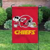 Peanuts Double-Sided Flag - Snoopy Kansas City Chiefs Football - 2021 SUPERBOWL!