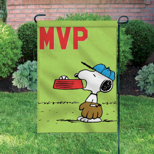 Peanuts Double-Sided Flag - Snoopy Baseball MVP (Most Valuable Player)