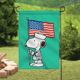 Peanuts Double-Sided Flag - Snoopy Navy