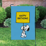 Peanuts Double-Sided Flag - Happy Birthday