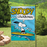 Peanuts Double-Sided Flag - Cowabunga!