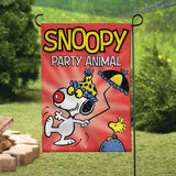 Peanuts Double-Sided Flag - Snoopy Party Animal