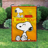 Peanuts Double-Sided Flag - I Miss You!