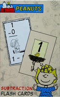Peanuts Gang Flash Cards - Subtraction