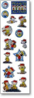 Charlie Brown Baseball Puffy Stickers