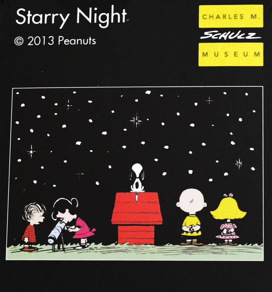 Schulz Museum Peanuts Starry Night Laser-Cut Mini Wooden Jigsaw Puzzle