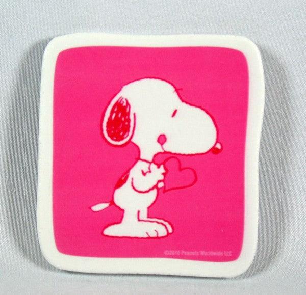 Snoopy Holding Heart Scrapbooking Embellishment