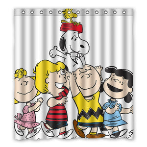 Peanuts Gang Fabric Shower Curtain
