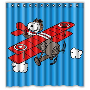 Flying Ace Fabric Shower Curtain