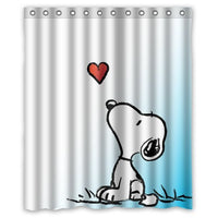 Snoopy's Heart Shower Curtain