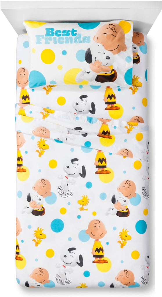 The Peanuts Movie Best Friends Twin-Size Microfiber Sheet Set - Super Smooth!