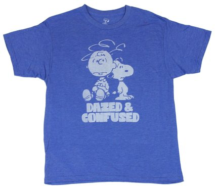 Charlie Brown and Snoopy T-Shirt - Dazed and Confused