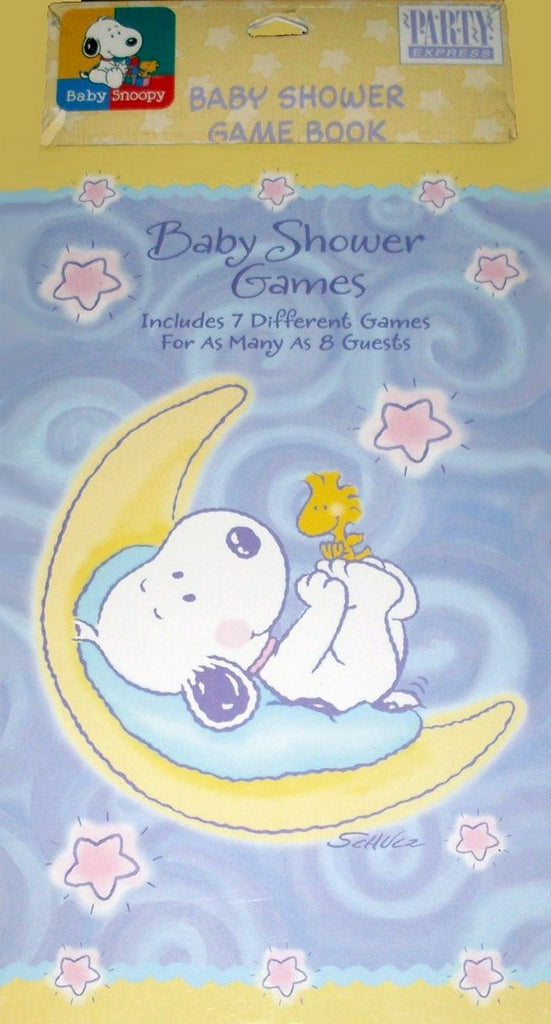 Baby Snoopy Baby Shower Game Book (24 Game Sheets/Up To 8 Guests)