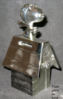 SILVER PLATED FLYING ACE ON DOGHOUSE Bank
