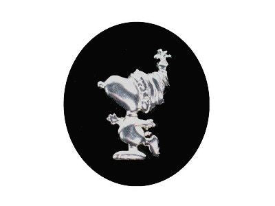 Snoopy Skater Sterling Silver Pin