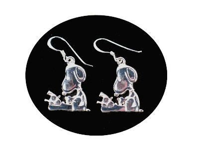 Literary Ace Sterling Silver Earrings