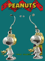 Flying Ace Two-Tone Sterling Silver With Gold Plating Earrings