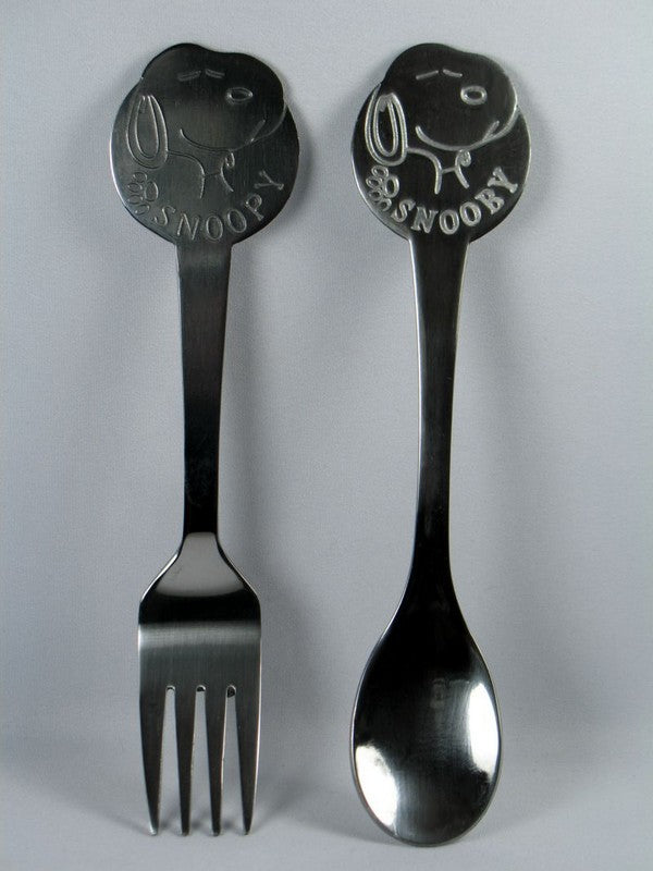Snoopy Stainless Steel Spoon and Fork Youth Set