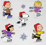 7-Piece Peanuts Skaters Jelz Window Cling Set - SPECIAL LOW PRICE!