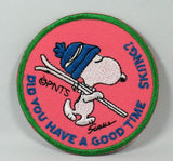 SNOOPY SKIING PATCH - DID YOU HAVE A GOOD TIME SKIING?