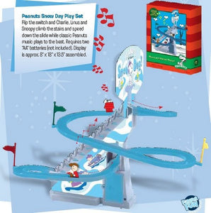 Peanuts Snow Day Automatic Sled Run Music & Motion Playset